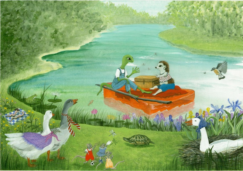 "Illustration for ""Tails of Lime"""